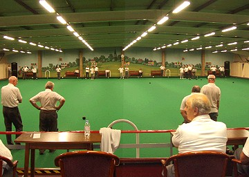 The indoor bowling green